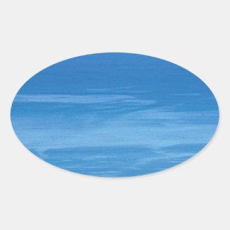 deep blue sea oval sticker