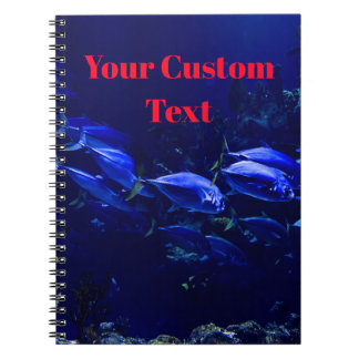 Deep Blue Undersea Tropical Fish Spiral Notebook