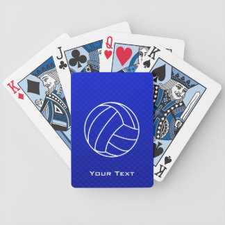 Deep Blue Volleyball Bicycle Playing Cards