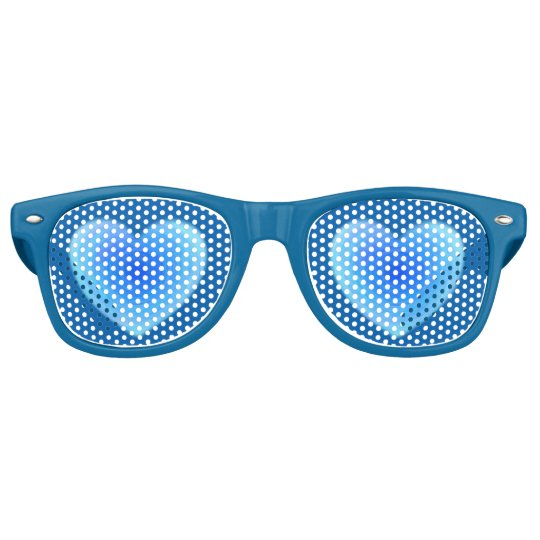 Deep Blue Water Heart - Love in Shades of Blue Party Shades