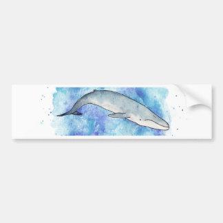 Deep blue whale bumper sticker
