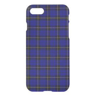 Deep bright blue, with yellow black stripe plaid iPhone 8/7 case