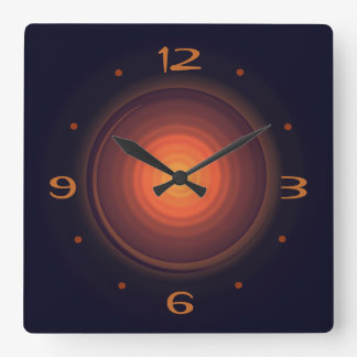 Deep Brown with Gold Swirl Centre>Wall Clocks