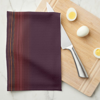 Deep Burgundy and Golf Stripes Kitchen Towel
