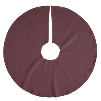 Deep Burgundy Red Pattern Christmas Tree Skirt