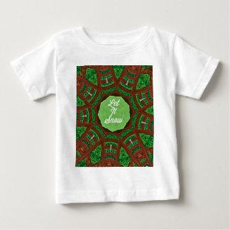 Deep Burnt Orange Green 'Let It Snow' Baby T-Shirt