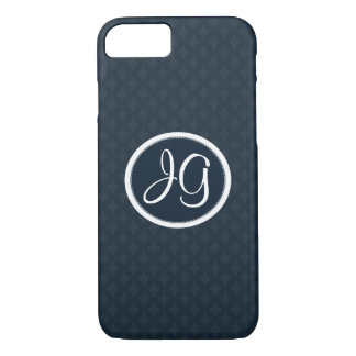 Deep Classic Navy Blue Gorgeous Custom Monogram iPhone 7 Case