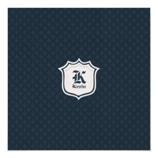 Deep Classic Navy Custom Monogram Card