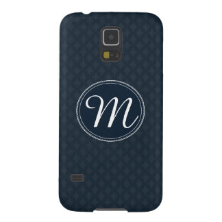 Deep Classic Navy Custom Monogram Galaxy S5 Case