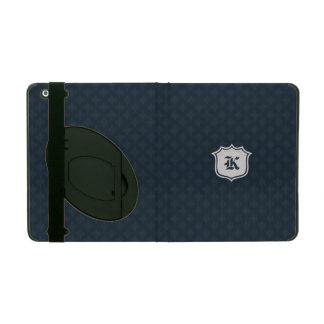 Deep Classic Navy Custom Monogram iPad Folio Case