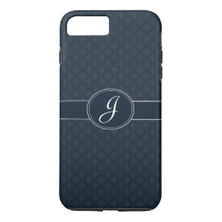 Deep Classic Navy Custom Monogram iPhone 7 Case