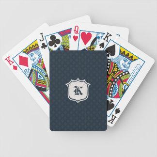 Deep Classic Navy Custom Monogram Poker Deck