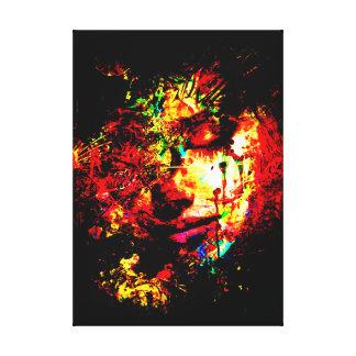 deep color sorrow abstract canvas