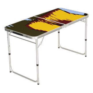 Deep Colours Mountains Abstract Landscape Beer Pong Table