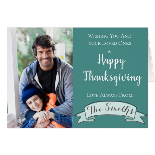 Deep Colours Thanksgiving Card   Custom Photos