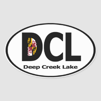 Deep Creek Lake Decal (set of 4) Oval Sticker
