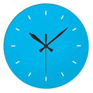 Deep Cyan Top One Color Wall Clock