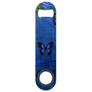 Deep dark blue and black fancy butterflies bar key