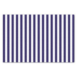 Deep Dark Blue and White Stripes | DIY Tissue Paper