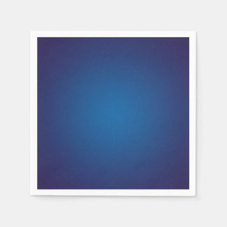 Deep Dark Blue Grainy Vignette Paper Napkins