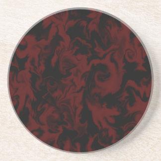 Deep Dark Red & Black mixed color Coaster