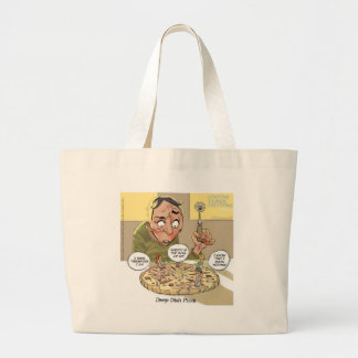 Deep Dish Pizza Funny Philosophical Tote Bag