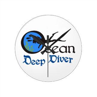 Deep Diver Wallclock