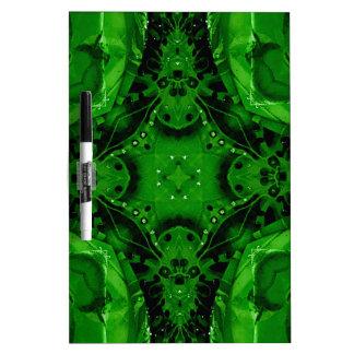 Deep Emerald Green Cross Shaped Design Dry Erase Board