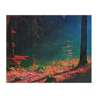 Deep Forest View Wood Art