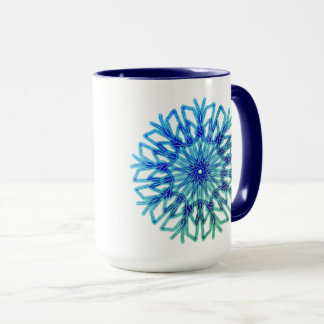 Deep Freeze Snowflake  ~ Mug