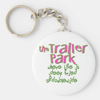 Deep Fried Double Wide Trailer Park Keychain