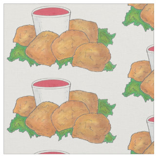 Deep Fried Rocky Mountain Prairie Oysters Wyoming Fabric