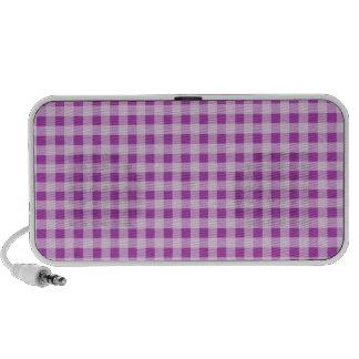 Deep Fuchsia Gingham; Checkered Mini Speakers