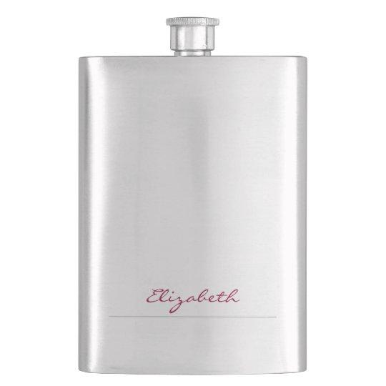 * Deep Fuchsia Signature Personalized Hip Flask