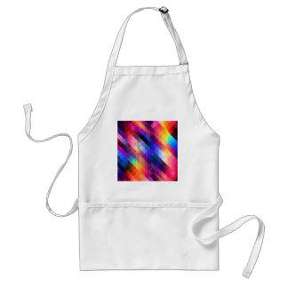 Deep Geometric Tetris Squares - Modern Pattern Standard Apron