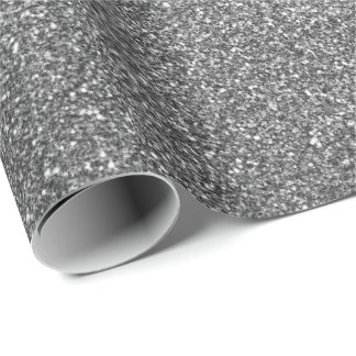 Deep Glam Glitter Stars Sparkly Minimal Delicate Wrapping Paper