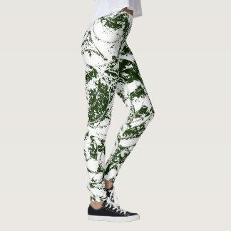 Deep Green Abstract Ornament Leggings