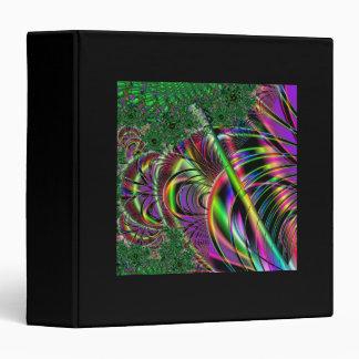 Deep green, and multi-color fractal design. binder