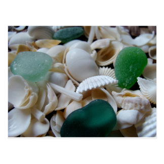 Deep Green Sea Glass Postcard