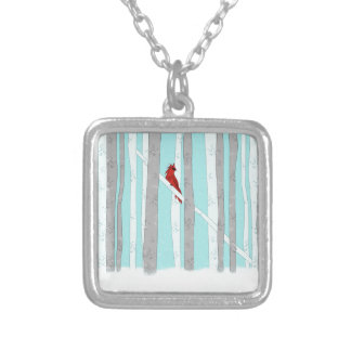 Deep In The Forest Silver Plated Necklace