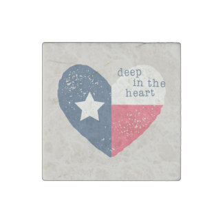 Deep in the Heart Texas Magnet Stone Magnets