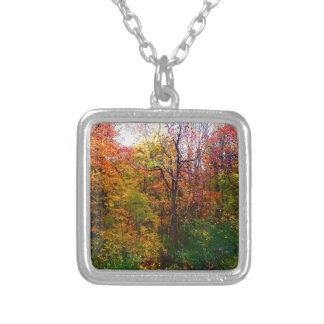 Deep In The Woods Silver Plated Necklace