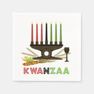 Deep In Tradition Kwanzaa Party Paper Napkins