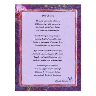 Deep In You Poem Postcard