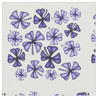 Deep Lavender Lucky Shamrock Clover Fabric
