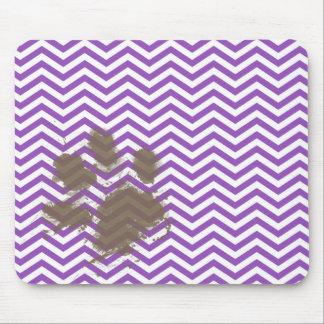Deep Lilac Chevron Mouse Pad