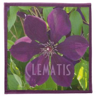 Deep Magenta Clematis Cloth Napkins