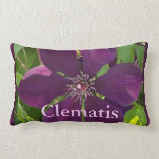 Deep Magenta Clematis Pillow