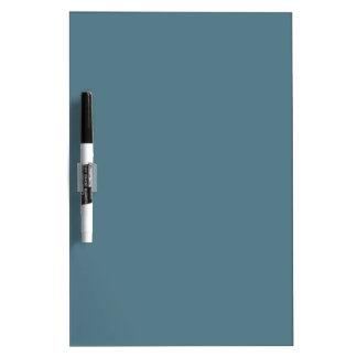 Deep Ocean Blue Solid Color Dry Erase Board