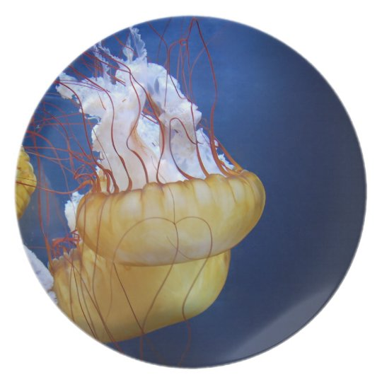 Deep Ocean Jelly Fish Plate